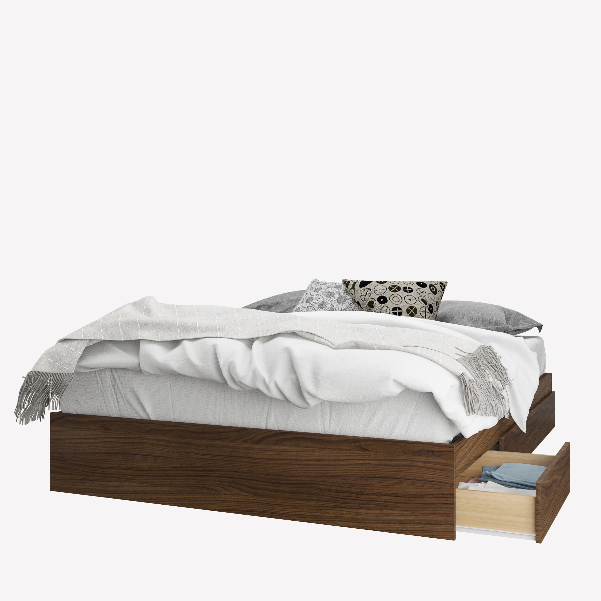 Nexera Cartel 3-Drawer Queen Size Storage Bed, Walnut