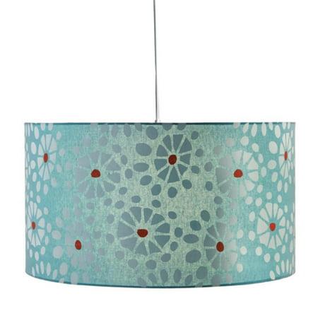 22 Colorful Contemporary Blue Fl Burst Drum Pendant Ceiling Light Fixture