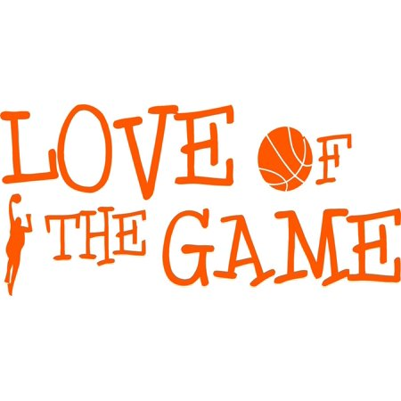 Custom Wall Decal Basketball Love Of The Game Picture Art Living Room Home Decor Sticker Custom Vinyl Wall Decal Mural 6 X 16 Inches for $<!---->