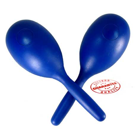 D'Luca Percussion Blue Fish Style Plastic Maraca