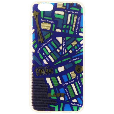 first rate d8975 184c8 Laut Nomad Seattle Hybrid Slim Case for iPhone 6s/6 - City Street/Blue/Frost