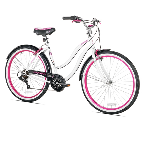 Kent Womens Bike - Susan G. Komen Cruiser, White - 26''