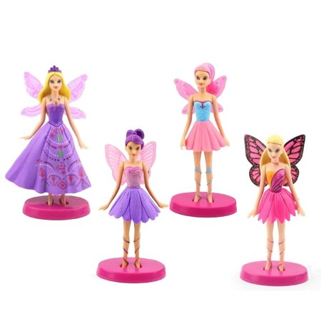 4pcs Butterfly Fairies Set Flying Tinkerbell Doll Action