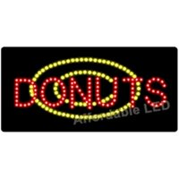 Affordable LED L8801 12 H x 24 L in. Donuts LED Sign