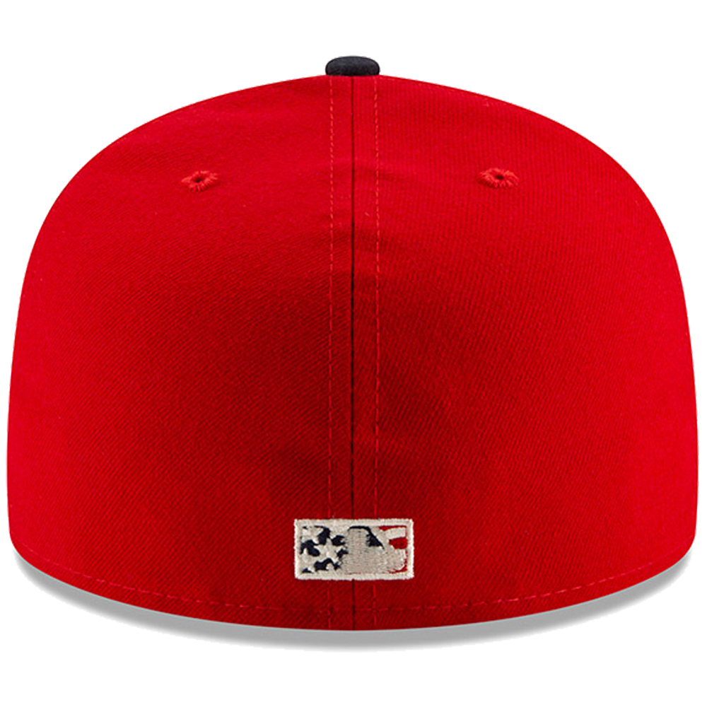 buy popular c3d01 e753e Philadelphia Phillies New Era 2019 Stars   Stripes 4th of July On-Field  59FIFTY Fitted Hat - Red Navy - Walmart.com