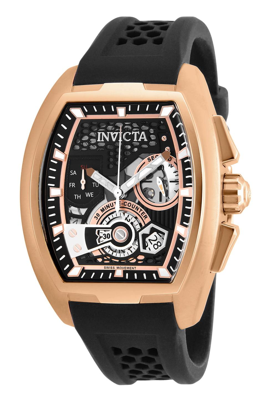 Men's 26400 S1 Rally Quartz Multifunction Black, Rose Gold Dial Watch