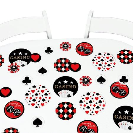 Las Vegas - Casino Party Giant Circle Confetti - Party Decorations - Large Confetti 27 Count - Las Vegas Decorations