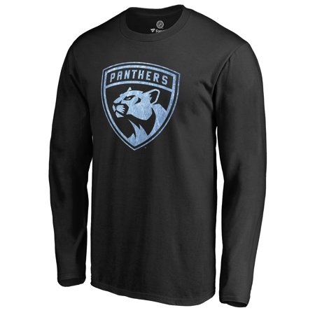 Men's Fanatics Branded Black Florida Panthers Pond Hockey Long Sleeve T-Shirt