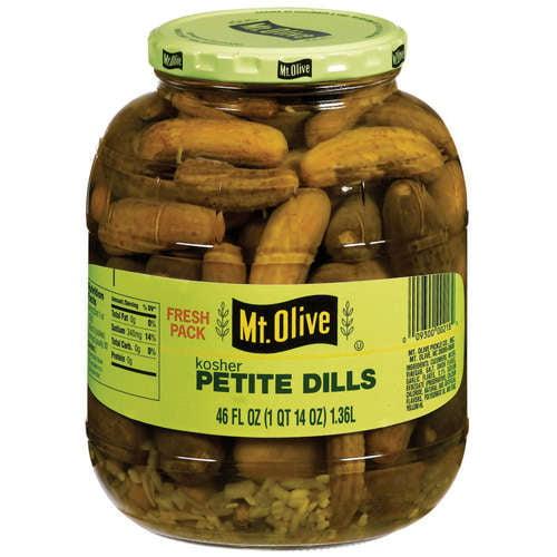 Mt. Olive Petite Dills Kosher Pickles, 46 fl oz