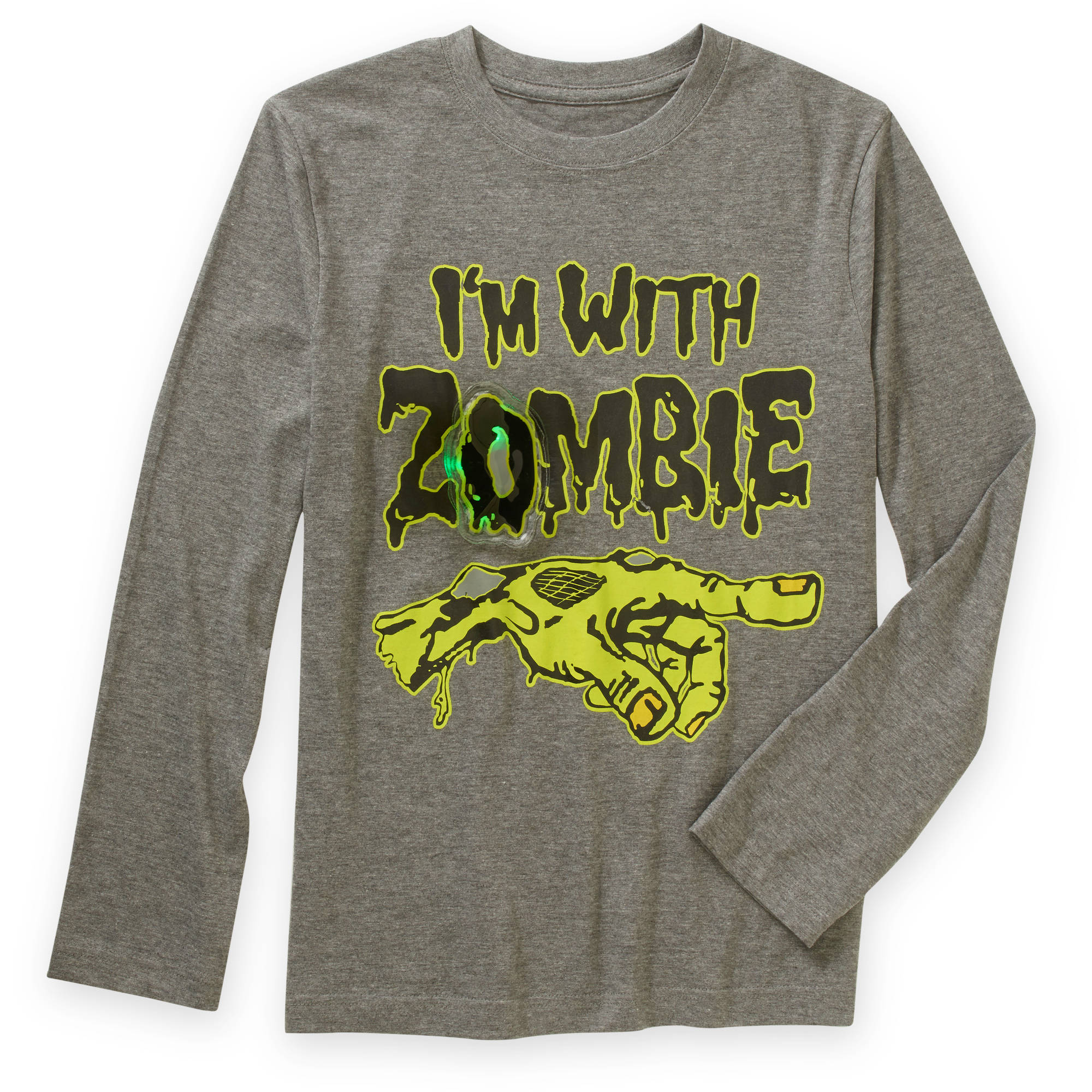 Boys' Light Up I'm With Zombie Graphic Tee