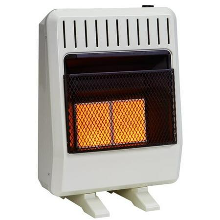 Avenger Dual Fuel Ventless Infrared 20,000 BTU Natural Gas / Propane Wall Mounted Heater