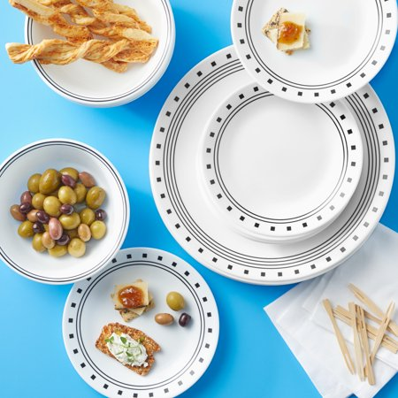 Corelle Classic City Block 16-Piece Dinnerware Set
