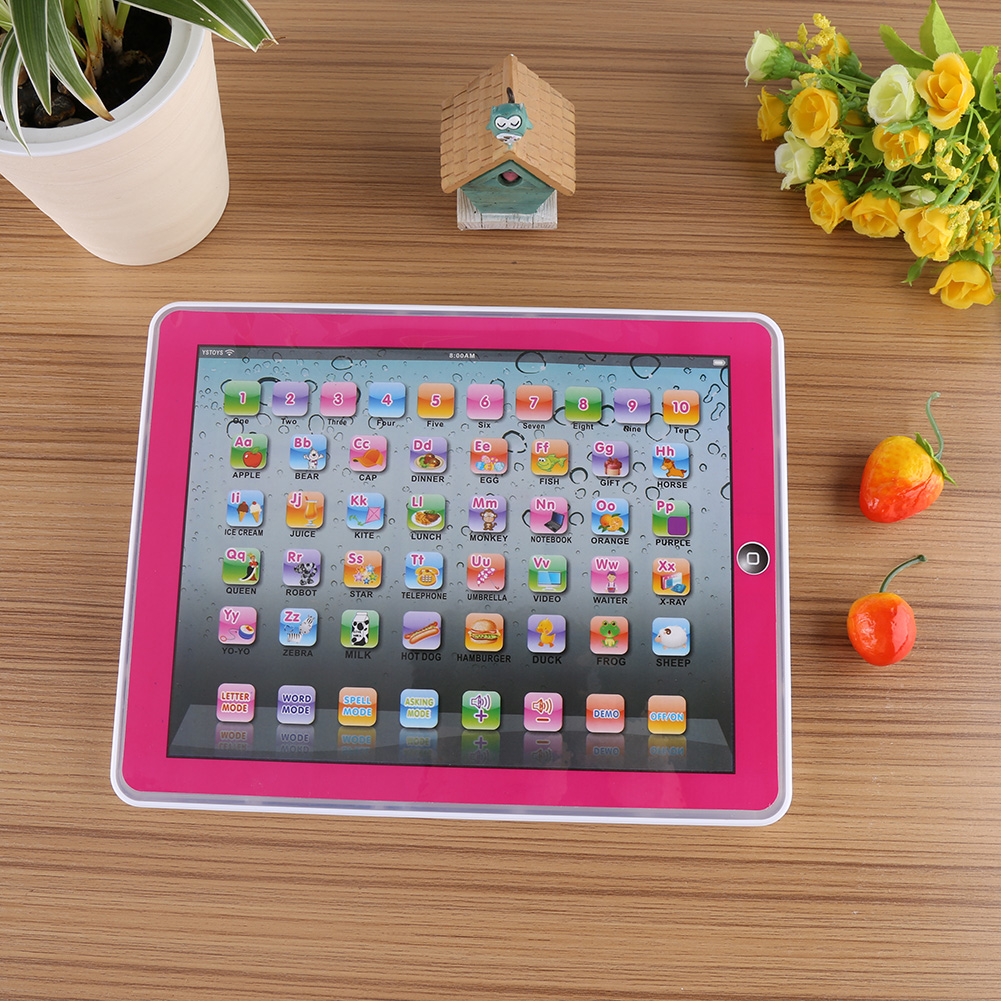 Baby Tablet Toy,Ymiko Early Educational Study Toy Baby Kids Toddler Learning English Machine Tablet, Learning English Tablet