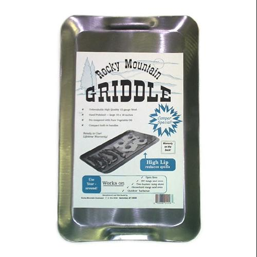Rocky Mountain Cookware RM1016 2-Burner RV/ Camping Griddle