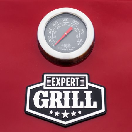 Expert Grill 4 Burner with Side Burner Propane Gas Grill in Red