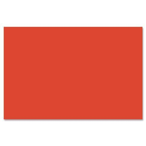 "6203 SunWorks Groundwood Construction Paper - 12"" x 9"" - 50 / Pack - Red Orange"