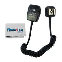 Zeikos ZE-OCSCO Off Camera Flash Cord for Olympus Cameras (Black) + Bonus Photo4less Cleaning Cloth!