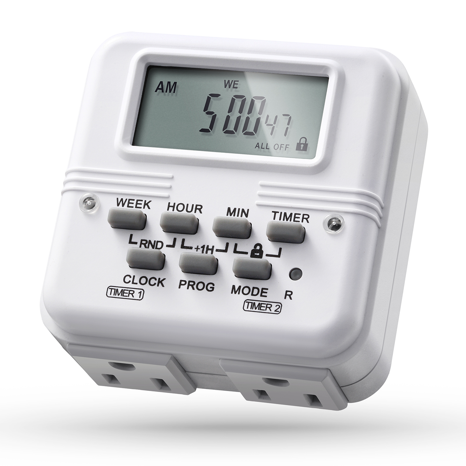 Digital Timer Outlet, Fosmon Programmable Outlet Timer for Electrical Outlets, Grow Lights,Heat Lamps, and More