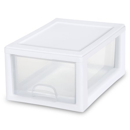 (Sterilite 6 Qt./5.7 L Stacking Drawer, White)