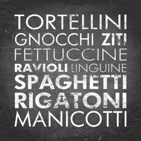 Pasta I Poster Print by Veruca Salt (22 x 22)