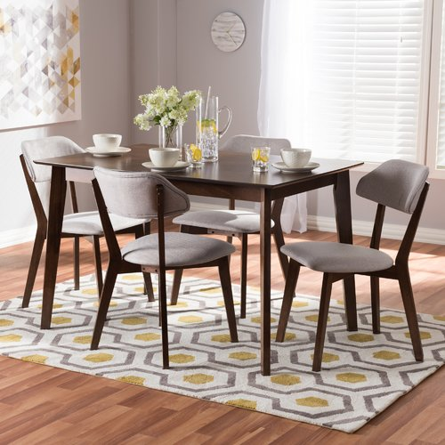 George Oliver Chapdelaine Upholstered 5-Piece Dining Set
