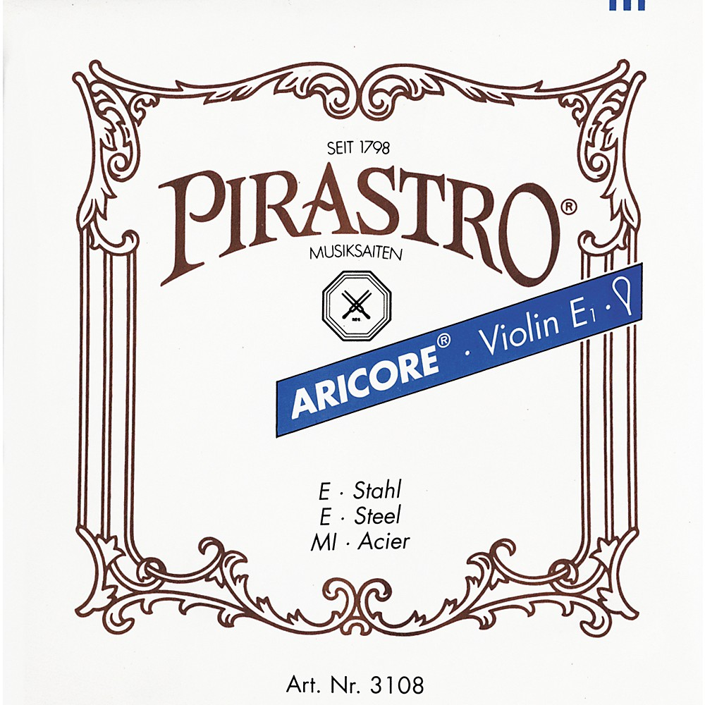 Pirastro Aricore Series Violin String Set 4 4 Set E String Ball End by Pirastro