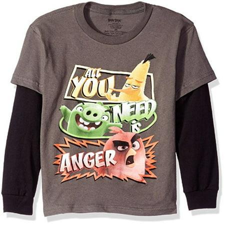 Angry Birds Little Boys' You Need Anger Long Sleeve Tee ()