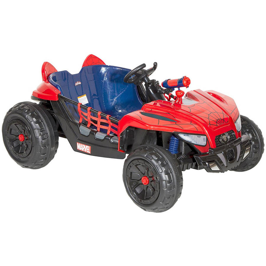 Generic Dynacraft Spider - Man 12V Dune Buggy Electric Ride - On