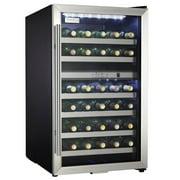 Danby Designer 38-Bottle Dual Temperature Zone LED Freestanding Wine Cooler