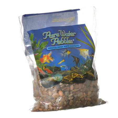 Large Gravel - Pure Water Pebbles Aquarium Gravel - Cumberland River Gems 2 lbs (6.3-9.5 mm Grain)