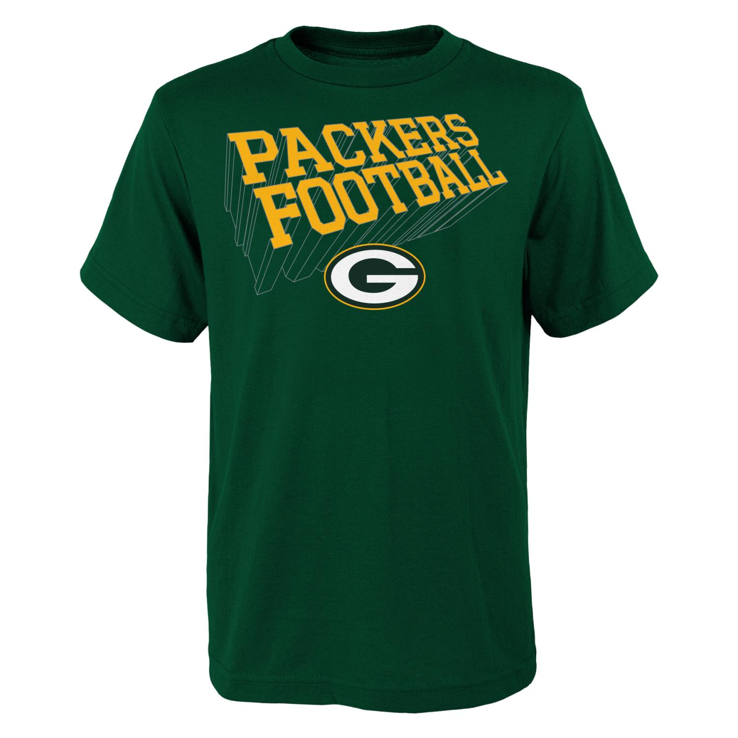 "Green Bay Packers Youth NFL ""Dimensional"" Short Sleeve T-Shirt"