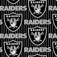 NFL Oakland Raiders Fleece Fabric, per Yard