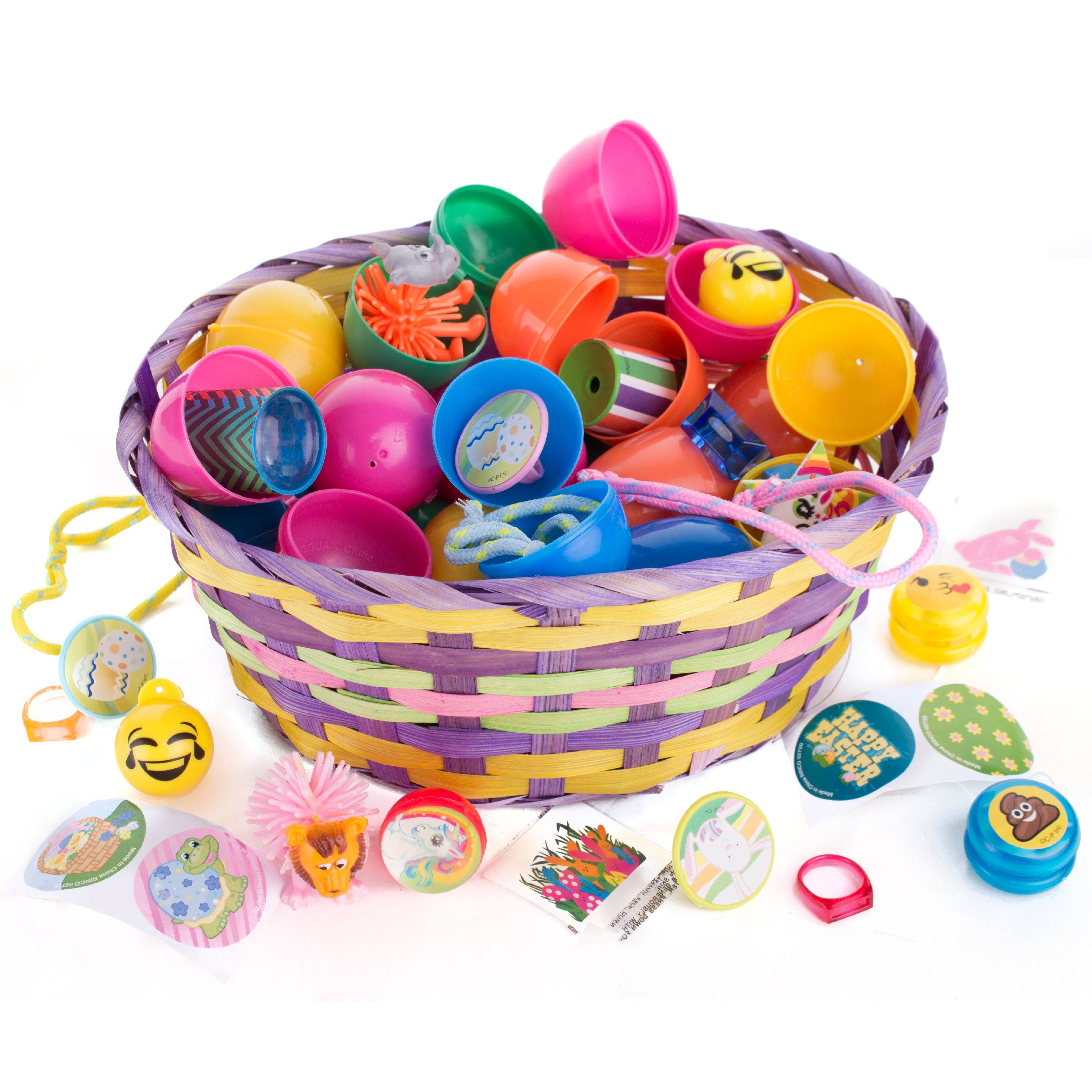 Bulk Lot Toy Filled Quality Easter Hunt Eggs for Kids, Assorted Solid Colors