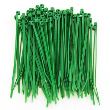 1000 Heavy Duty 4 Inches 18 Pound Zip Cable Ties Nylon Wrap Green