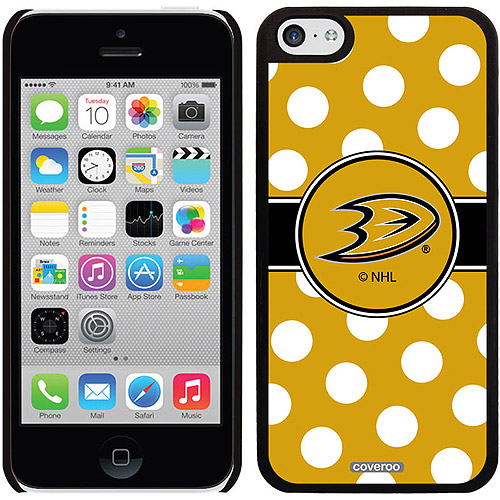Anaheim Ducks Polka Dots Design on iPhone 5c Thinshield Snap-On Case by Coveroo