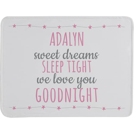 Personalized Sweet Dreams Baby Blanket, Blue](Personalized Baby Stuff)