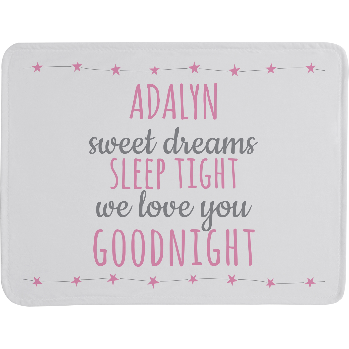Personalized Sweet Dreams Baby Blanket, Blue