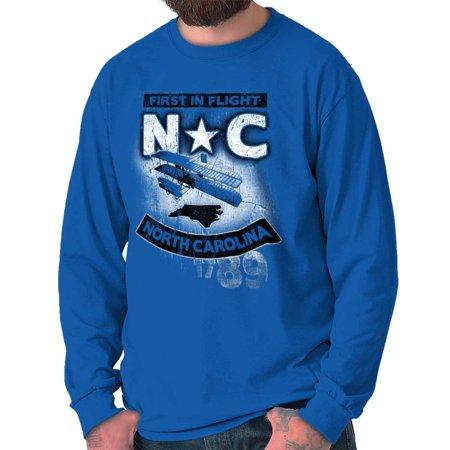 Brisco Brands North Carolina First Flight NC Long Sleeve Tee Shirt Top](Nc Top 11 Halloween)