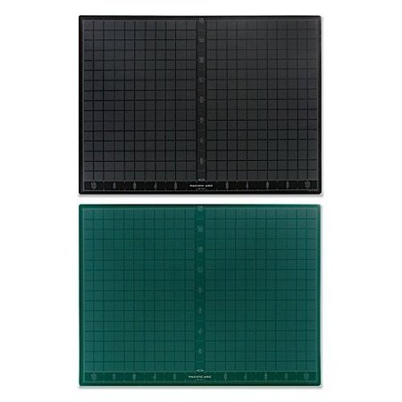 PACIFIC ARC GB1824 CUTTING MAT 18X24 BLACK / GREEN SELF HEALING