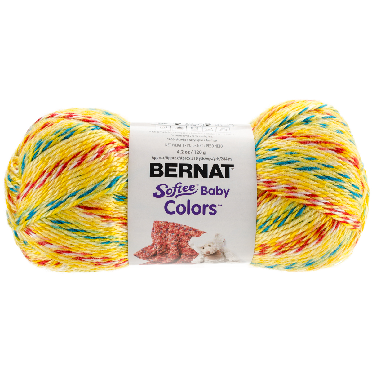 Softee Baby Yarn - Colors-Yellow Rainbow