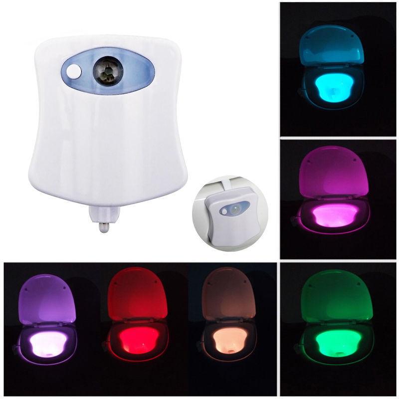 Led Bathroom Night Light toilet night light led motion activated sensor bathroom illumibowl
