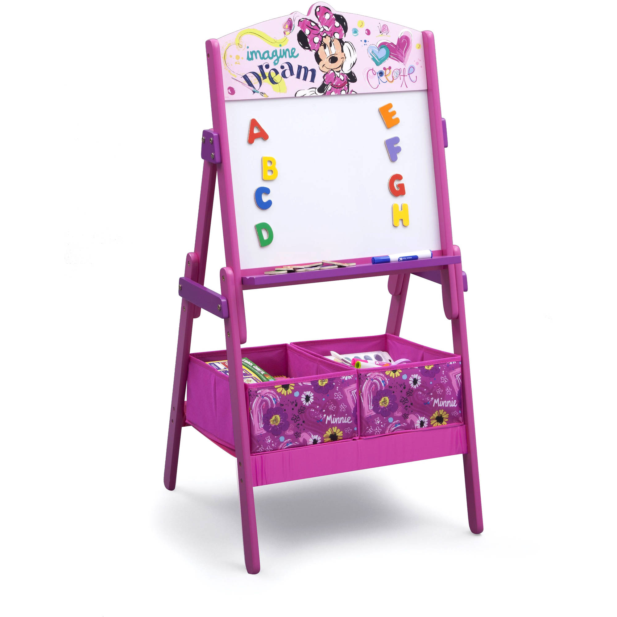 Disney Minnie Mouse Activity Easel with Storage by Delta Children