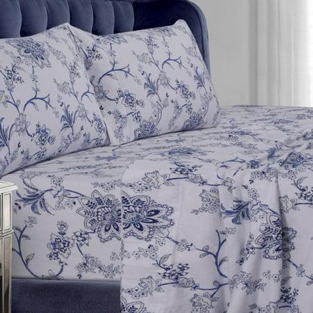 Tribeca Living Floral Flannel Sheet Set ()