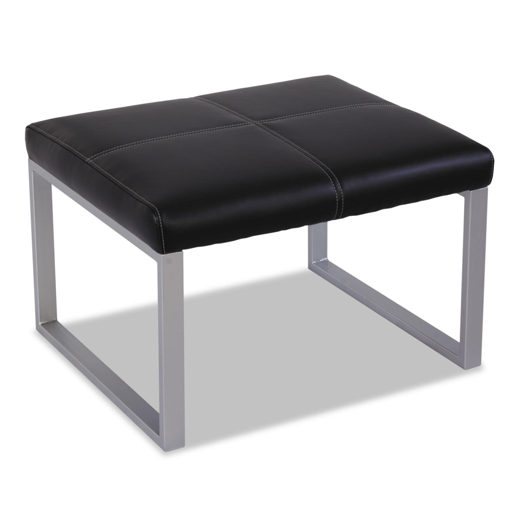 Alera Alera Ispara Series Cube Ottoman, 26-3/8 x 22-5/8 x 17-3/8, Black/
