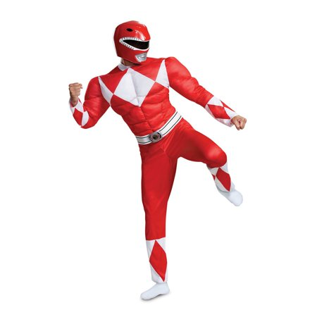 Power Rangers - Mighty Morphin Red Ranger Classic Muscle Adult Halloween Costume](Mighty Morphin Power Rangers Ninja Costumes)