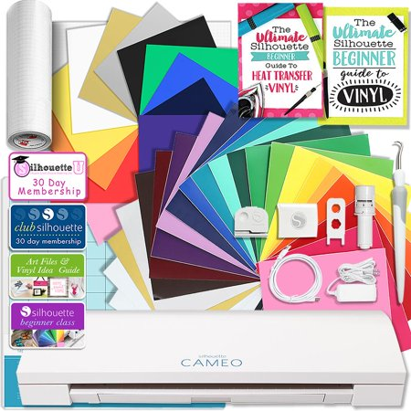 Hematite Cameo - Silhouette CAMEO 3 Bluetooth Creative Bundle with 24 Oracal 651 Sheets and 12 Siser Easyweed Heat Transfer Sheets