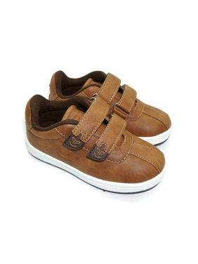 Pipiolo Boys Tan Brown Adhesive Strap Casual Sneakers