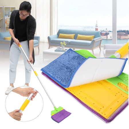 Microfibre Double Sided Lazy Flat Mop Washable Home Floor Dust Cleaner 360 Degree Telescopic Sweeper Household Cleaning Tool Floor Cleaning Sweeper Tool