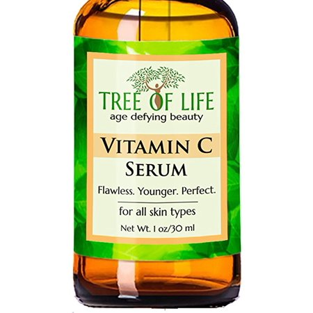 Vitamin C Serum for Face - Anti Aging Anti Wrinkle Facial Serum with Many Natural and Organic Ingredients - Paraben Free, Vegan - Best Vitamin C Serum for (Best Anti Aging Serum For Dry Skin)