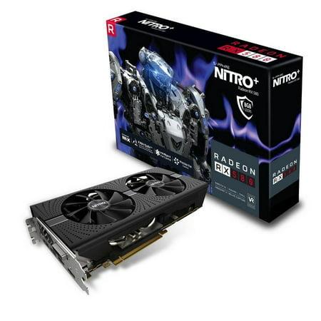 Sapphire Radeon NITRO+ RX 580 8GB GDDR5 PCI-E Dual HDMI / DVI-D / Dual DP w/ backplate -